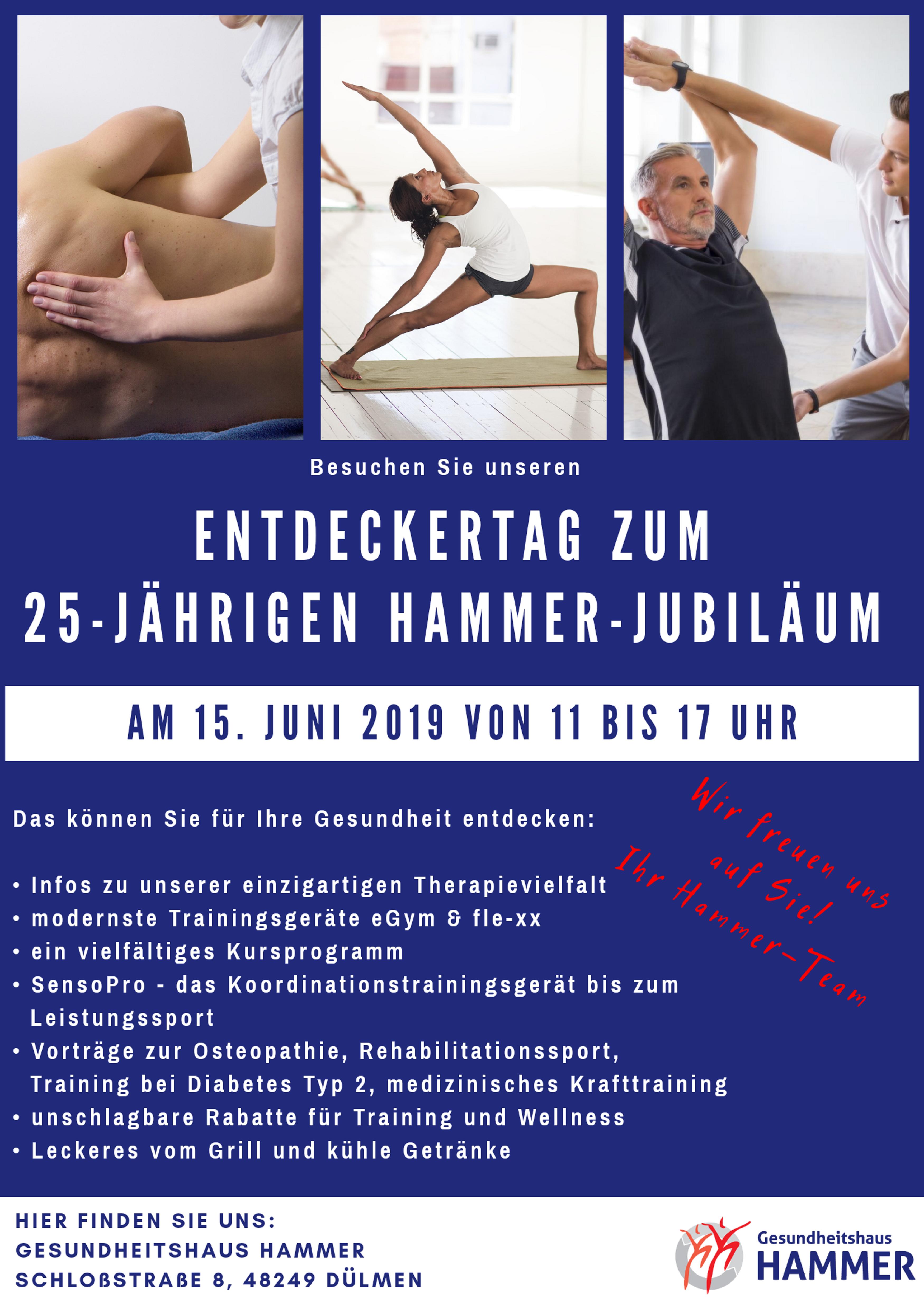 25 jähriges Jubiläum Gesundheitshaus Hammer